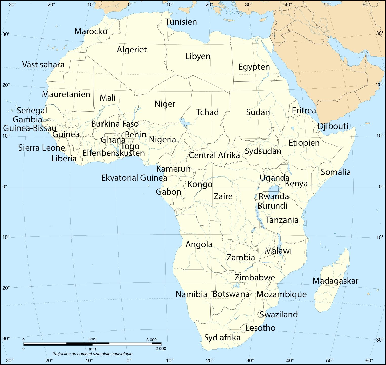 afrika karta svenska Map of Africa | TERRA afrika karta svenska